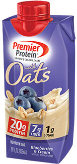 Image of Premier Protein® 20g Protein & Oats Shake, Blueberries and Cream Package