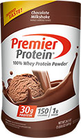Premier Protein® Chocolate 100% Whey* Powder  [prem-715887.jpg] - Click for More Information